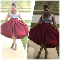 Skirt only... Available in plus size only... Skirts High Low