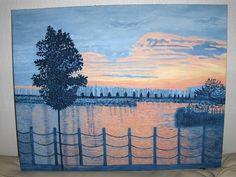 Margareth Giskegaard, MARINA IN SUNLIGHT , OIL ON CANVAS,CM51X65Lengt on ArtStack #margareth-giskegaard #art