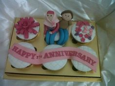 Anniversary cupcakes #by SM Cookies and Cakes