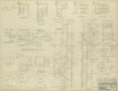 Ludwig Mies van der Rohe (American, born Germany, 1886–1969) Associate Architect: Holsman, Holsman, Klekamp and Taylor (American, 20th century) Associate Architect: Pace Associates (American, 20th century) Structural Engineer: Frank J. Kornacker (American, active 1940s–1950s), 860–880 North Lake Shore Drive: Stair Details (Building 1)