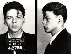 Frank Sinatra, 1938 Bergen County, N... Frank Sinatra, 1938 Bergen County, NJ Charge: Adultery