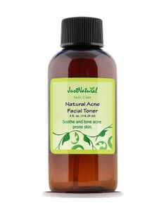 Natural Acne Facial Toner - -   The problem with many acne cleansers or toners is the use of harsh chemicals and alcohol. These remove oil and kill bacteria but with daily use they can break down your skins natural protective barrier and may lead to increased acne, dryness and red irritated skin.  Instead, our natural acne toner uses safe gentle and effective ingredients that remove dirt and debris from your skin to help prevent acne breakouts and pimples.