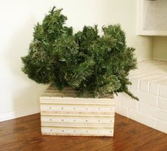 Cover Your Ugly Christmas Tree Base - Simple Fix