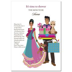 Indian Baby Shower Invitations - Baby Bounty