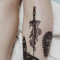 Tarot tattoo idea: Suit of Swords