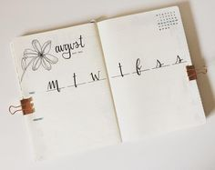 """72 Likes, 7 Comments - j (@_xobujobeauty) on Instagram: """"a weekly spread for august w/ a lily from @bonjournal_"""""""