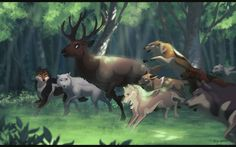 The Hunt by Tazihound on DeviantArt Anime Wolf, Fantasy Wolf, Fantasy Art, Amazing Drawings, Cool Drawings, Wolf Comics, Cartoon Wolf, Wolf Character, Wolf Love