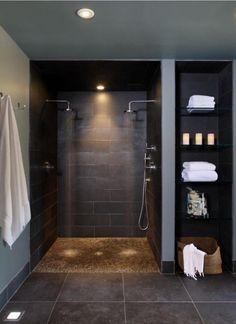 badezimmer dusche Java Tan Pebble Tile bathe trendy Article Physique: With the hundreds of f Diy Bathroom Decor, Bathroom Styling, Bathroom Interior Design, Bathroom Ideas, Bathroom Organization, Bathroom Designs, Bathroom Storage, Bathroom Mirrors, Bathroom Inspiration