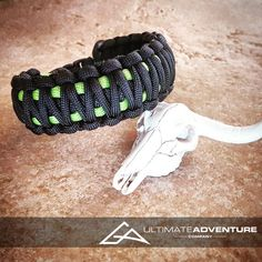 Black & Neon Green King Cobra Paracord by UltimateAdventureCo