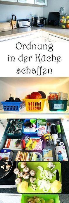 Ordnung in der Küche schaffen: Kühlschrank und Schubladen organisieren. Mama-Hacks