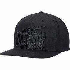 ded4fcbeeae Houston Rockets Mitchell   Ness Hardwood Classics Cropped XL Logo Snapback  Adjustable Hat - Black -  31.99