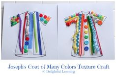 Joseph's Coat of Many Colors Texture Craft @ Delightful Learning