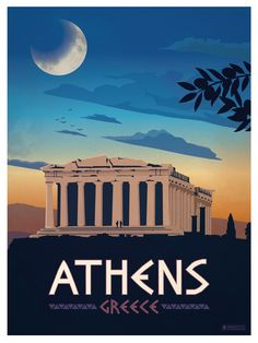 Immagine di Vintage Athens Print G. omigabie City Poster around the world Immagine di Vintage Athens Print G. Immagine di Vintage Athens Print omigabie Immagine di Vintage Athens Print City Poster around the world Immagine di Vintage Athens Old Posters, Art Deco Posters, Illustrations And Posters, Retro Posters, Print Image, Tourism Poster, Venice Travel, Athens Greece, Greece Art