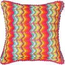 Milla Decoração & Design - Capa de Almofada Crochê Multicolor