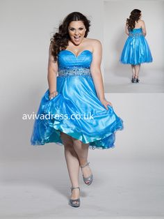 A-line Sweetheart Sleeveless Blue Tulle Amazing Plus Size Prom Dress