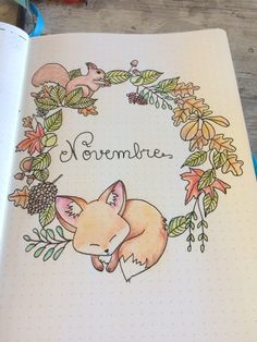 Deckblatt - November Deckblatt -November Deckblatt - November Deckblatt - cauliflower july calligraphy bullet journal lettering tips calligraphie carnet bujo Nursery Art BABY FOX Art Print Chidren's art. Bullet Journal Ideas Pages, Bullet Journal Inspiration, Journal Pages, Journals, Bullet Journal Title Page, Journal Layout, My Journal, Journal Covers, Kalender Design