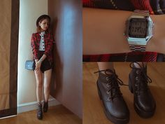 Romwe Top, Romwe Jacket, Romwe Boots, Emoda Bag, Casio Watch
