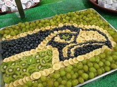 Seahawks fruit tray blueberries bananas grapes and kiwis Seahawks Football, Football Food, Seattle Seahawks, Football Parties, Seattle Football, Tailgate Parties, Football Birthday, Broncos, 5th Birthday