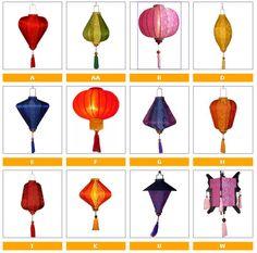 Lot of 8 Vietnamese Hoian silk lanterns for Wedding Party Decor - Home Wedding Lanterns, Outdoor Wedding Decorations, Wedding Themes, Wedding Ideas, Wedding Sand, Wedding With Kids, Small Lanterns, Paper Lanterns, Origami Lamps
