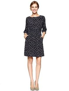Cherry print blouson dress | Gap