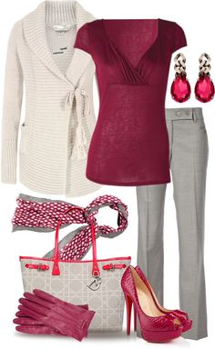 I like the style of this outfit; it work would start to upgrade my wardrobe, but not so much that I would no longer fit in with our casual work attire. Komplette Outfits, Classy Outfits, Casual Outfits, Fashion Outfits, Fashion Trends, Business Outfits, Business Fashion, Business Attire, Business Casual