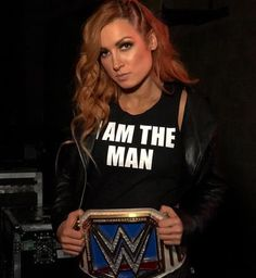 """I am the man. Look at my shirt. Wrestling Superstars, Wrestling Divas, Women's Wrestling, Becky Lynch, Becky Wwe, Wrestlemania 29, Rebecca Quin, Wwe Female Wrestlers, Wwe Womens"
