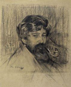Retrat de Santiago Rusiñol fet per Ramon Casas i conservat al MNAC a Barcelona.