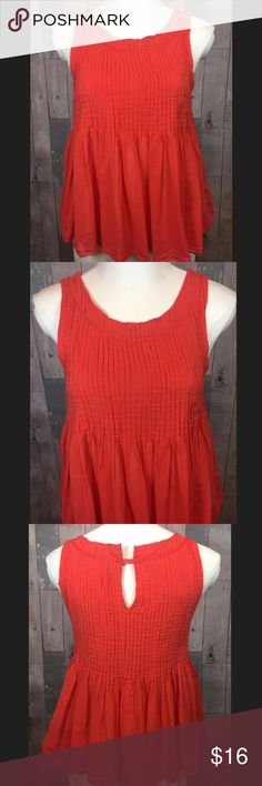 Anthos Vanessa Virginia top Great condition! 22 inches in length. Armpit to armpit is 15.5 inches. 100% cotton. Smoke free and pet free home. Anthropologie Tops