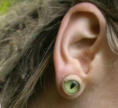 Creepy eye coming out of your earlobe earrings.