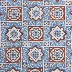 Blue and white fabric swatch, boldly patterned with Moroccan tile print, against an ivory white background Blue And White Fabric, White Fabrics, Massage Room, Pretty Patterns, Repeating Patterns, Fabric Swatches, Green And Brown, Fabric Design, Color Schemes