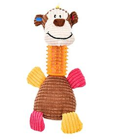 Plush Monkey The Best Tough Chew Dog Toys Pet Toy for Aggressive Chewers Small Large Dogs -- Want additional info? Click on the image.(This is an Amazon affiliate link and I receive a commission for the sales)