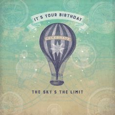 Claire Mcelfatrick - Birthday Hot Air Balloon Vintage Maps