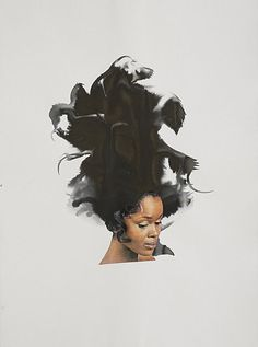 Black Curl - Lorna Simpson 2013 Collage, and ink on paper African American Artist, American Artists, American Women, American History, Black Curls, Black Artists, Black Is Beautiful, Art World, Art History