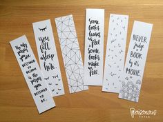 Handwritten Bookmarks / Illustrated Quotes by PoisonousPaper