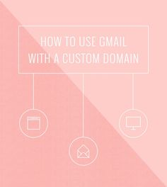 "How to Use Gmail With Your Own Custom Domain. | Bloggers, business owners, entrepreneurs...want to look WAY more professional AND be able to use Gmail's interface when sending emails? This tutorial shows you how to use your website's domain name in your email address AND be able to use Gmail with it. No more ""____@gmail.com"" email addresses! This will totally step up your game."