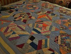 Antique Hand Stitched Six Point Star Quilt | eBay, bgrboots