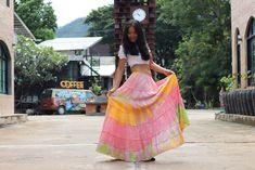 Boho Skirt / Maxi Skirt / Maxi Boho Skirt /Modest Skirt / Beach Skirt /Full Length skirt / Tie Dye Skirt/ Long Skirt Modest Skirts, Boho Skirts, Full Length Skirts, Beach Skirt, Beach Tops, Tie Dye Patterns, Cotton Skirt, Soft Light, Boho Tops