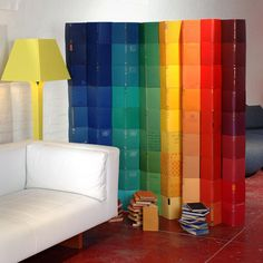 Lucy's Redesign Roundup - Furniture - The Design Files Color Block Curtains, Magazine Table, Rainbow Room, The Design Files, Unique Furniture, Home Accessories, Contemporary, Interior Design, Room Dividers