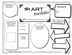 Art portfolio cover - end of year