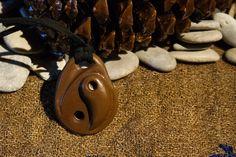 Necklace Stone Pebble Jewelry  Beach Stone Jewelry  Aegean Beach  bohemian Ying Yang Stone Necklace Rustic Jewelry  Ecofriendly Jewelry Gift