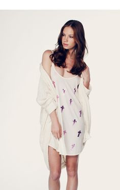 SEA WITCH - SLIP DRESS at Wildfox Couture in MALIBU PINK, PEARL
