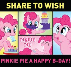 Pinkie Pie and I have the same birthday - May 3rd!