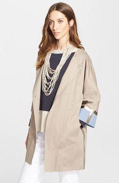 Fabiana Filippi Techno Cotton Coat available at #Nordstrom