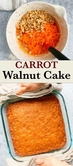 Quick Bread Recipes, Fun Easy Recipes, Baking Recipes, Cake Recipes, Easy Meals, Carrot And Walnut Cake, Carrot Cake, Healthy Curry Recipe, Curry Recipes