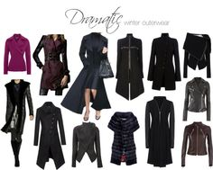 Dramatic winter outerwear