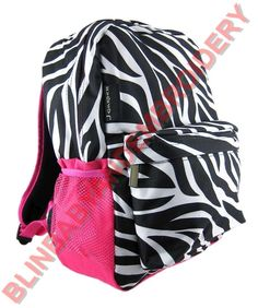 a048900b5c4a Zebra Print Backpack w Hot Pink Trim Pocket ** Find out more about the  great product at the image link.