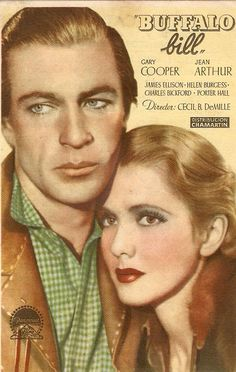 THE PLAINSMAN (1936) - Gary Cooper - Jean Arthur - Directed by Cecil B. DeMille - Paramount - Movie Poster.