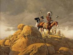 Dull Knife's War Party by Frank McCarthy - 20 by 26 inches Oil on Board Native American Models, Native American Indians, Native Indian, Native Art, Tribal Images, Indian Paintings, Oil Paintings, American Indian Art, Le Far West