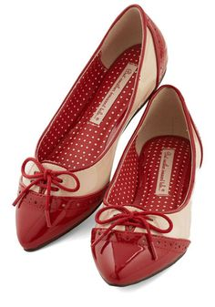1950s Shoes: New 1950s Style Shoes for Sale: Candy Apple Sweet Flat $59.99  #shoes #1950sfashion