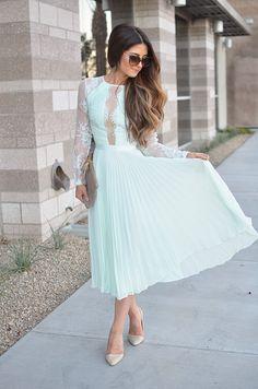 J Petite: Perfect Wedding Guest Dress - Minty Lace